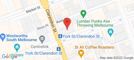 Location map for S105/201-205 Clarendon Street South Melbourne