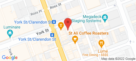 Location map for 87 York Street South Melbourne