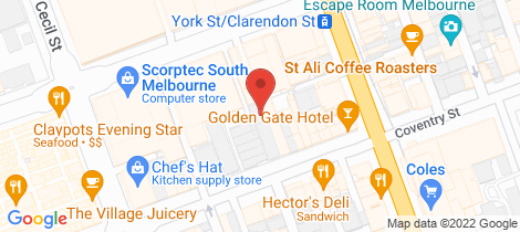 Location map for 211/274 Coventry Street South Melbourne