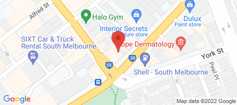 Location map for 516 City Road South Melbourne