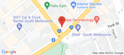 Location map for 4/520 City Rd South Melbourne