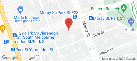 Location map for 153-161 Park Street South Melbourne