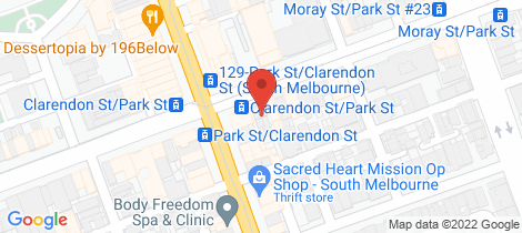 Location map for 201 Park St South Melbourne