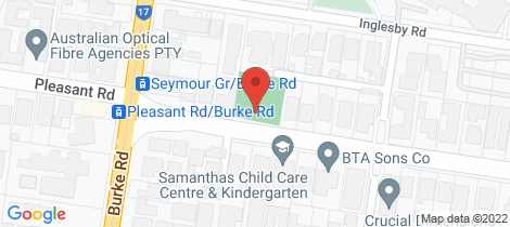 Location map for 105/50 Seymour Grove Camberwell