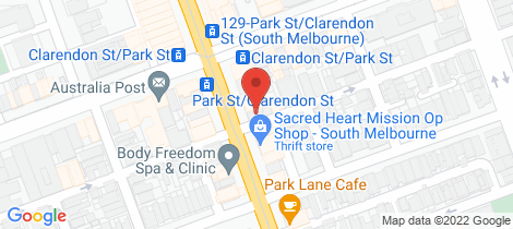 Location map for 1/361 Clarendon Street South Melbourne