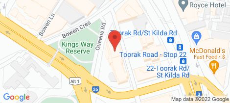 Location map for Tenancy 5/1 Queens Road Melbourne