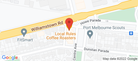 Location map for 1/23 Centre Avenue Port Melbourne