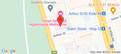 Location map for 307/15 Queens Road Melbourne