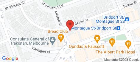 Location map for 69 Bevan Street Albert Park