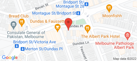 Location map for 117 Dundas Place Albert Park