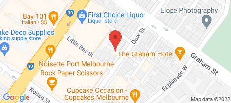 Location map for 114/99 Dow Street Port Melbourne