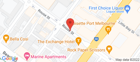 Location map for C306/166 Rouse Street Port Melbourne