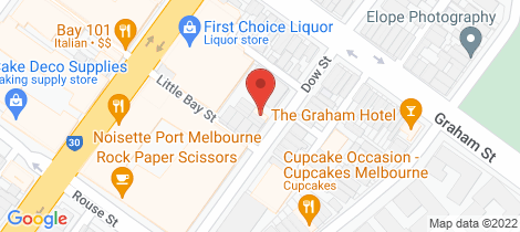 Location map for 301/99 Dow Street Port Melbourne