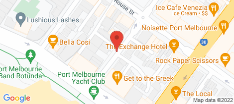Location map for 108/25 Nott Street Port Melbourne