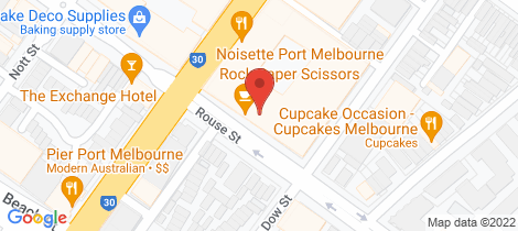 Location map for 702/142 Rouse Street Port Melbourne