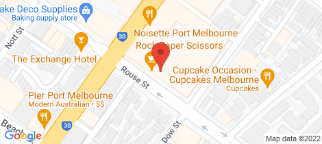 Location map for 406/142 Rouse Street Port Melbourne