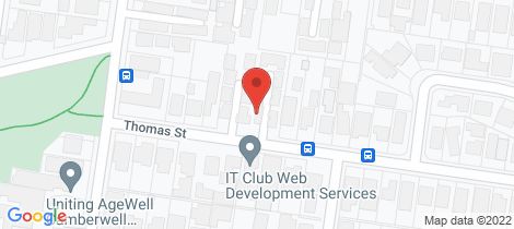Location map for 7/25 Thomas Street Camberwell