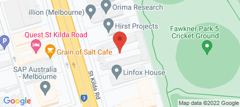 Location map for 76/485-489 St Kilda Road Melbourne