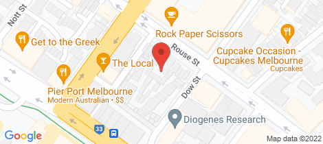 Location map for 18/15 Beach Street Port Melbourne