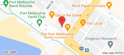 Location map for 103/40 Beach Street Port Melbourne