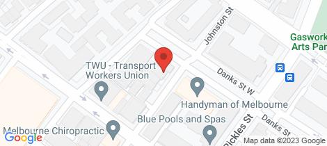 Location map for 4/55 Johnston Street Port Melbourne