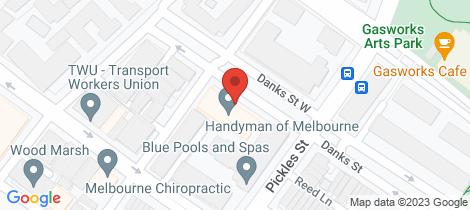 Location map for 214/1 Danks Street Port Melbourne
