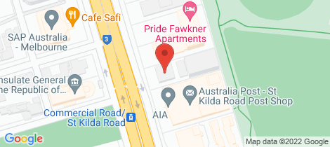 Location map for 1103/505 St Kilda Road Melbourne