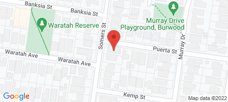 Location map for 70 Somers Street Burwood