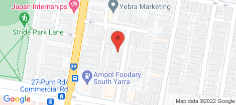 Location map for 2/9 Affleck Street South Yarra