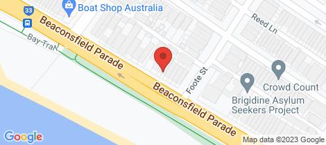 Location map for 45 Beaconsfield Parade Albert Park