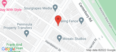 Location map for 23 Wright Street Middle Park