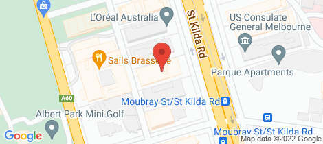 Location map for 1507/568 St Kilda Road Melbourne