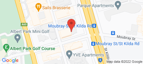 Location map for 420/572 St Kilda Road Melbourne