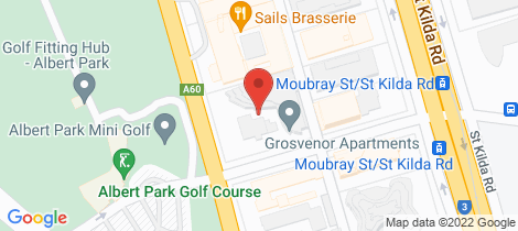 Location map for 302/55 Queens Road Melbourne