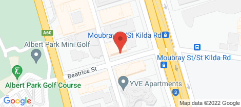 Location map for 1320/572 St Kilda Rd Melbourne