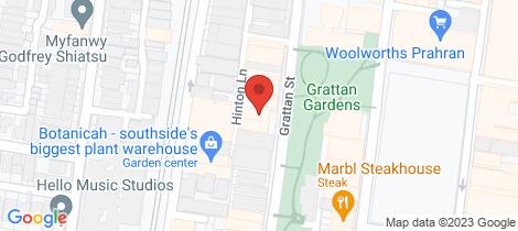 Location map for 106/13-15 Grattan Street Prahran