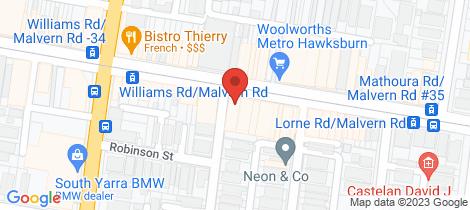 Location map for Shop 1/546 Malvern Road Prahran
