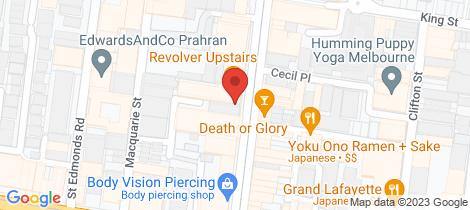 Location map for 2/227 Chapel Street Prahran