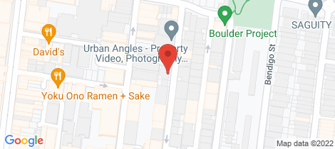 Location map for 21 Mount Street Prahran