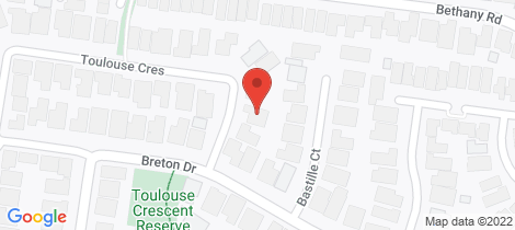 Location map for 55 Toulouse Crescent Hoppers Crossing