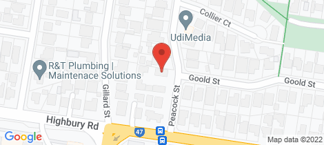 Location map for 1/58 Peacock Street Burwood