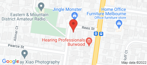 Location map for 3 Rees Street Burwood