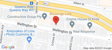 Location map for 11/91 Wellington Street St Kilda