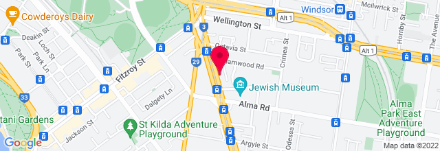 Map for Hamer Hall, Arts Centre