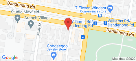 Location map for 37/250 Dandenong Road St Kilda East