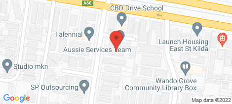 Location map for 2/3 Lansdowne Road St Kilda East