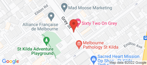 Location map for 16-18 Grey Street St Kilda