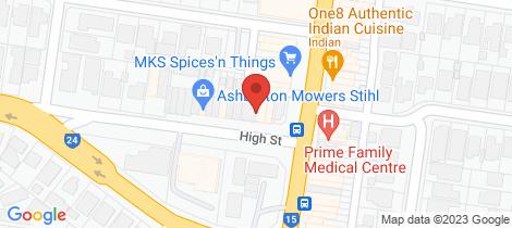 Location map for 101/411 High Street Ashburton