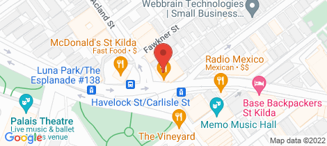 Location map for 201/72 Acland Street St Kilda