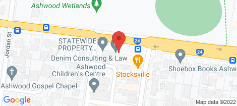 Location map for 132 High Street Road Ashwood